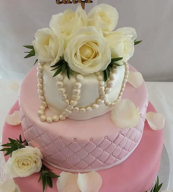 Pink Quilted Wedding Cake - Quality Cake Company : quilted wedding cake - Adamdwight.com