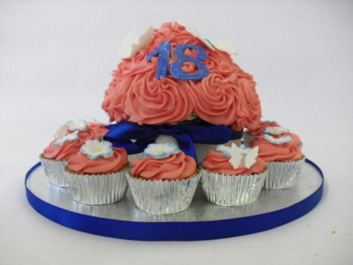 18th Birthday Giant pink cupcake