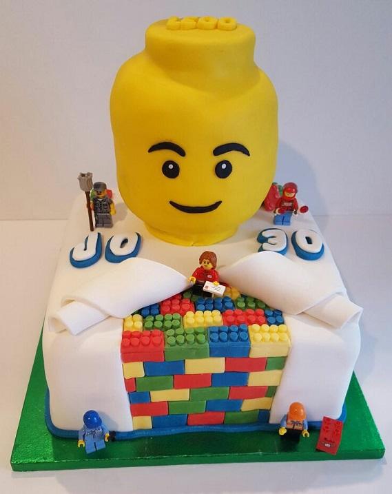 how to make lego reveal cake