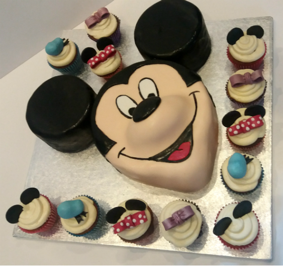 Mickey mouse children's birthday cake cupcakes - Quality Cake Company Tamworth