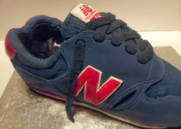 New Balance Trainer sculpted novelty cake - Quality Cake Company Tamworth