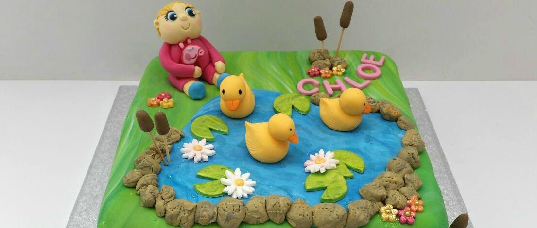 Peppa Pig Duck Pond children's birthday cake - Quality Cake Company Tamworth