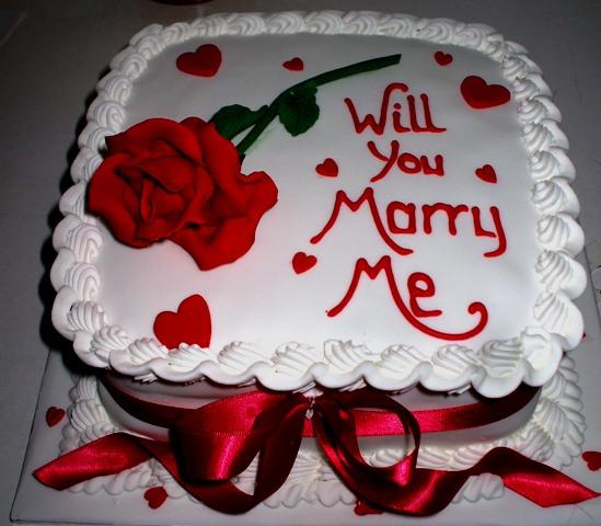 Red rose proposal cake - Quality Cake Company Tamworth