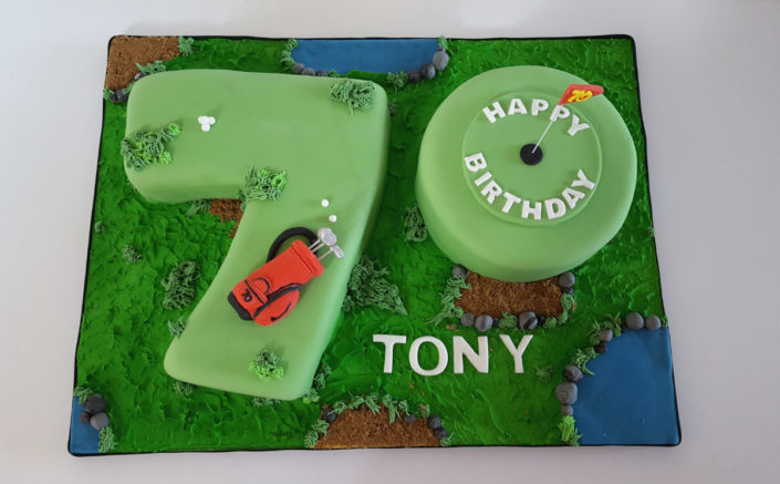 70 golf course cake