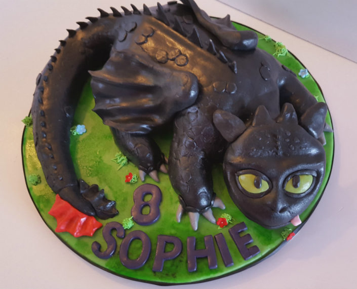 Toothless birthday cake