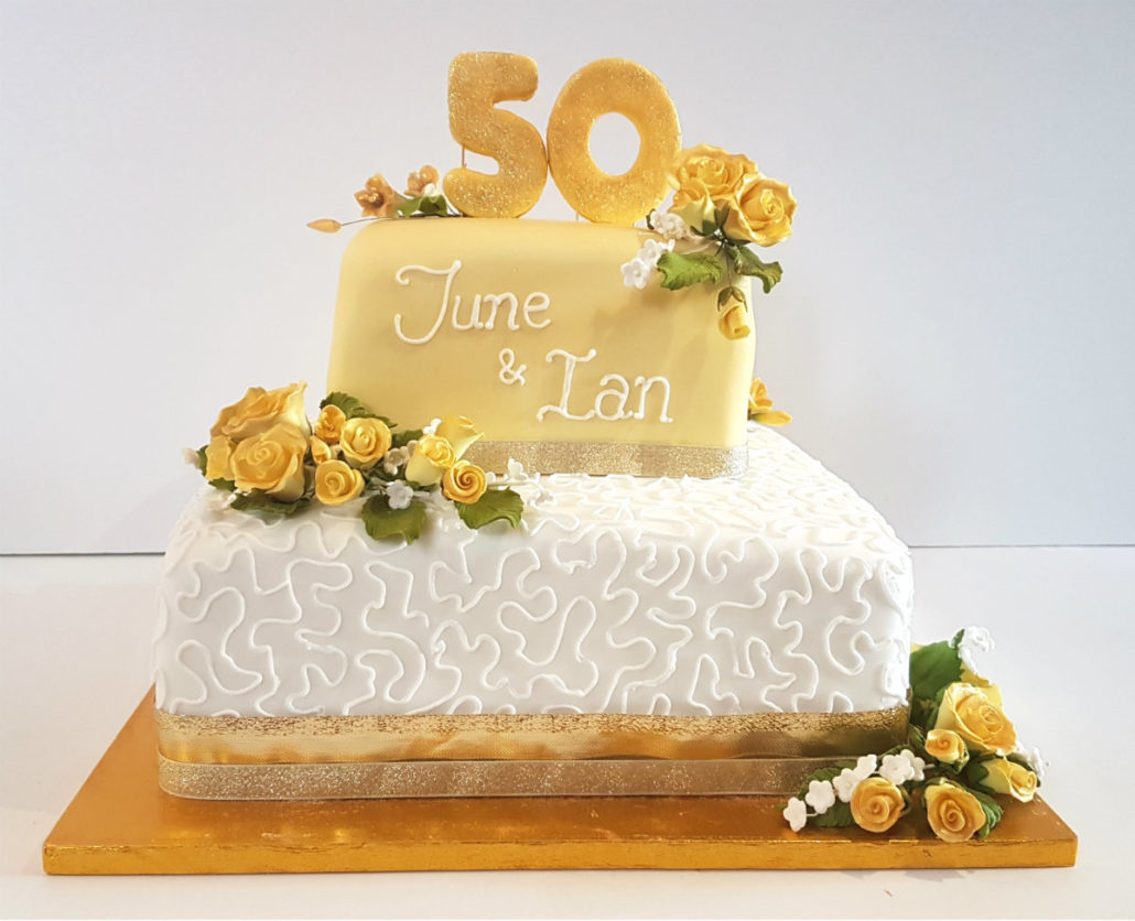 celebration wedding cakes tamworth 50th golden wedding anniversary supplies quality 12465