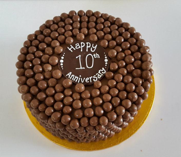 Chocolate malteaser anniversary cake