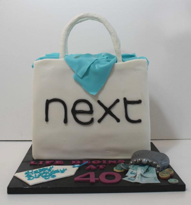 Next shopping back cake design