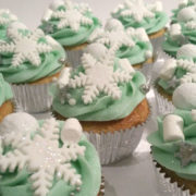 Snowflake sparkle Christmas Winter cupcakes Tamworth