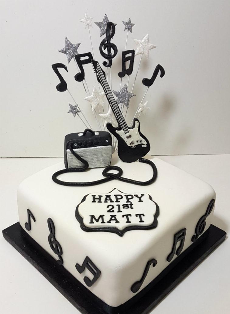 Guitar Amp Birthday Cake