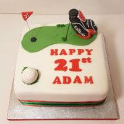Golf bag birthday cake tamworth