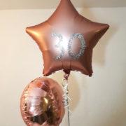 rose gold balloons personalised tamworth