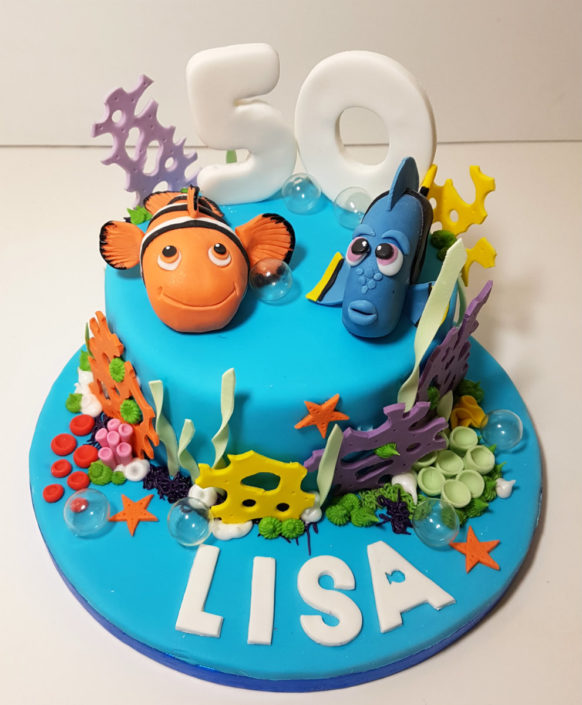 Finding Nemo & Dory birthday cake
