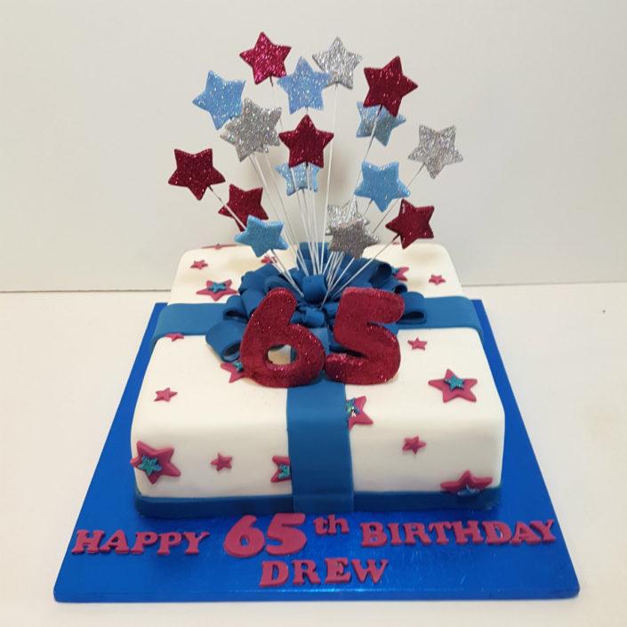 AVFC colours present stars cake
