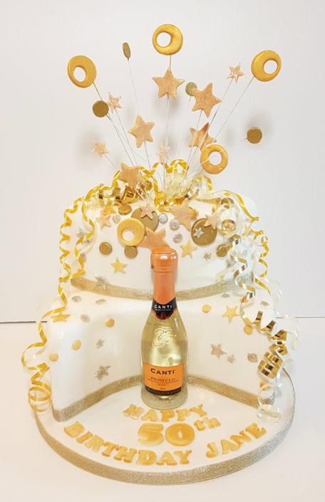 50th birthday wine celebration cake - Tamworth