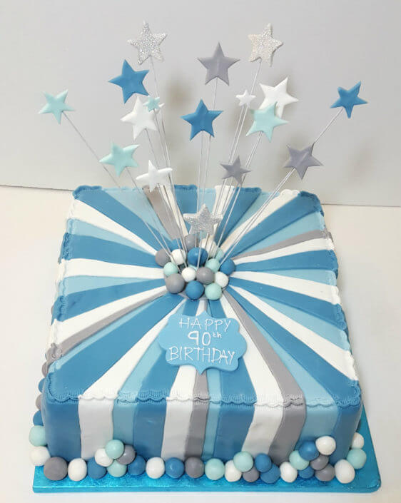 Birthday Cakes Blue And White