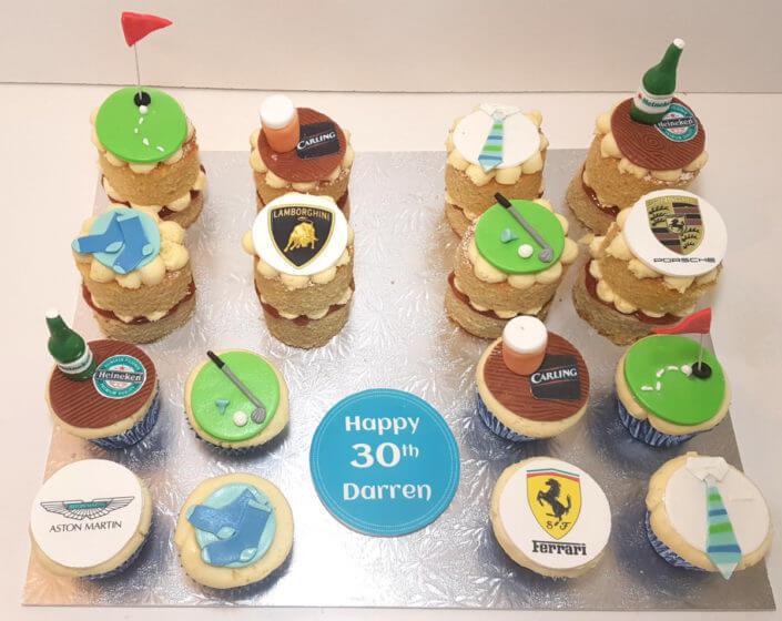 Hobby football golf beer cupcakes - tamworth