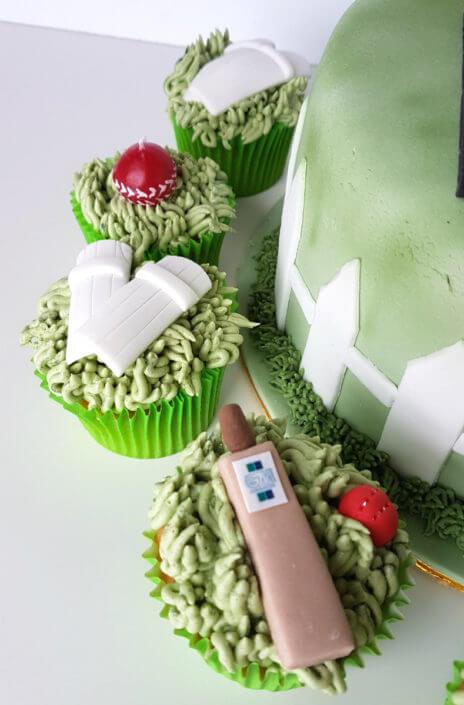 Cricket themed cupcakes - tamworth