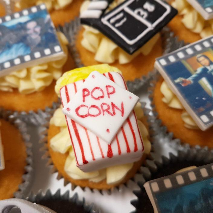 Popcorn cupcake topper - quality cake company Tamworth