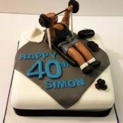 weight lifting gym hobby birthday cake - tamworth