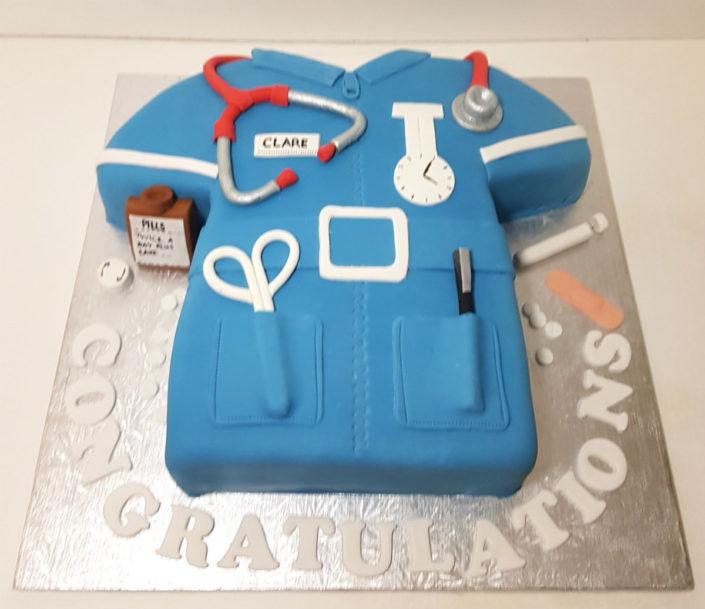 New job for a nurse celebration cake - tamworth