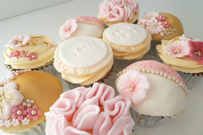 Bride to be hen party cupcakes - tamworth