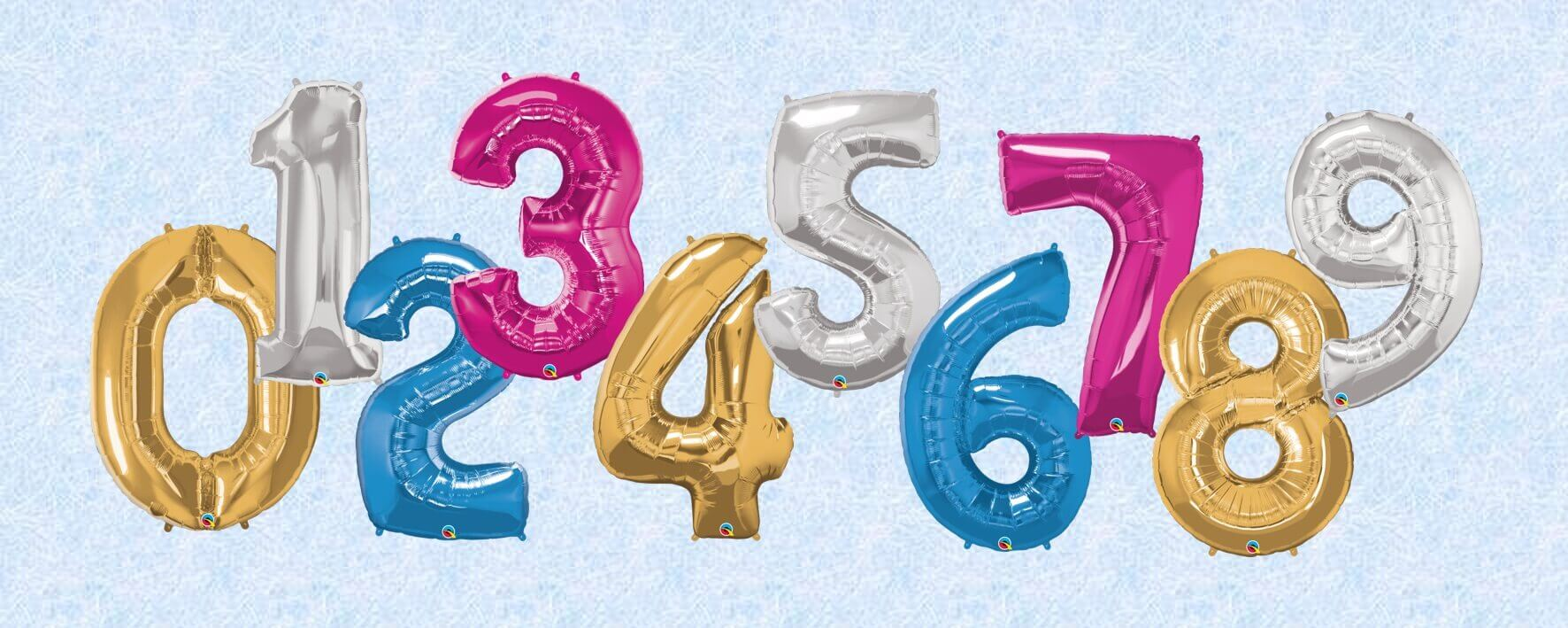 Large foil number helium filled balloons Tamworth party shop
