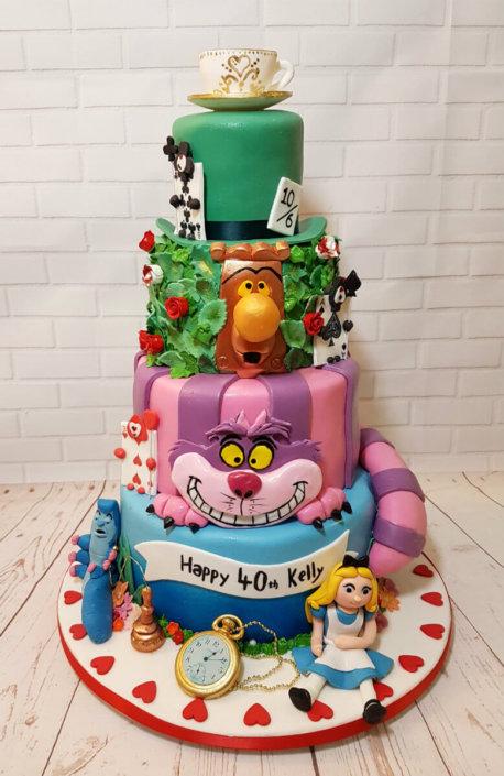 Alice in Wonderland tier birthday cake- Tamworth