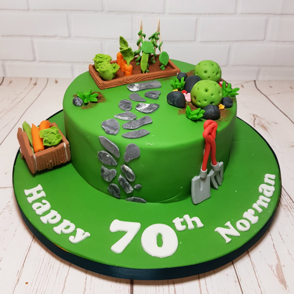 Garden Themed Cake Ideas Hobby themed birthday cakes quality cake company tamworth garden allotment cake workwithnaturefo
