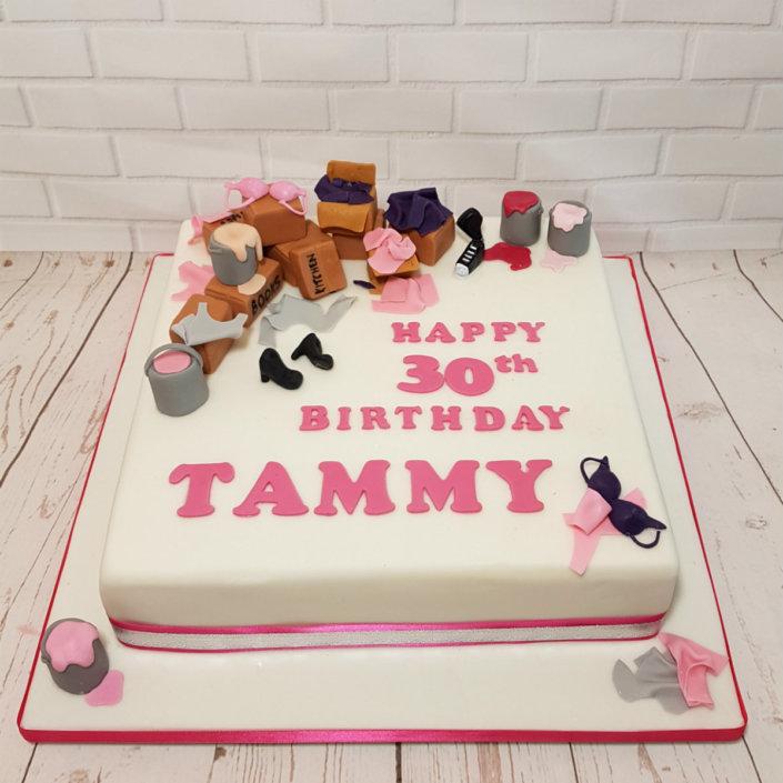 Girly things bithday cake - tamworth