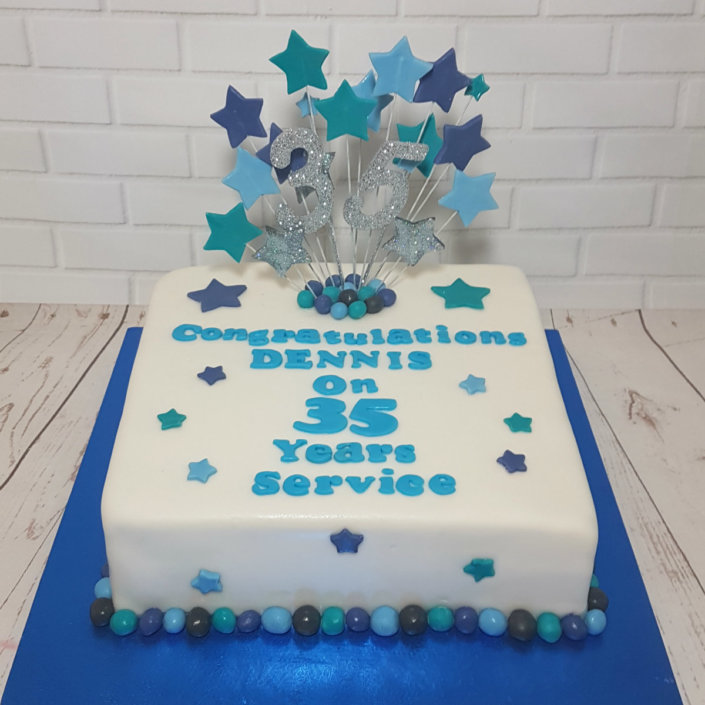 Long service at work cake - tamworth sutton coldfield