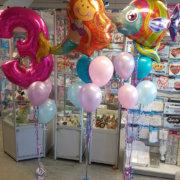 Mermaid & Fish balloon sprays - party Tamworth