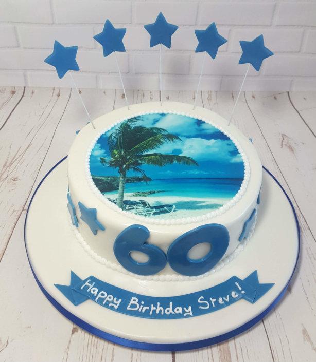 Holiday photo cake edible printing - tamworth