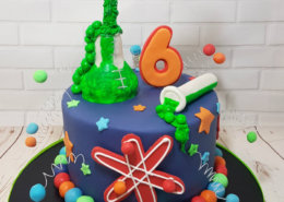 Science theme test tubes elements cake - tamworth