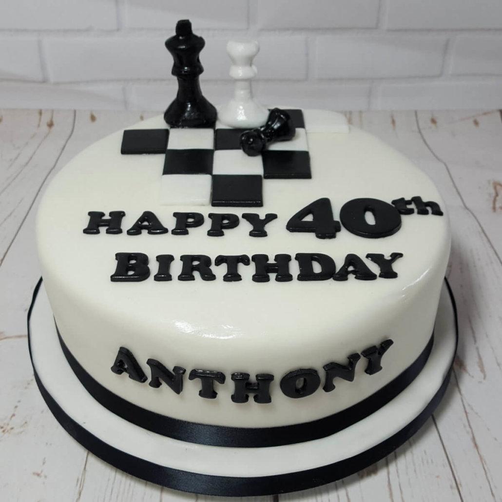 Black And White Birthday Cakes For Men