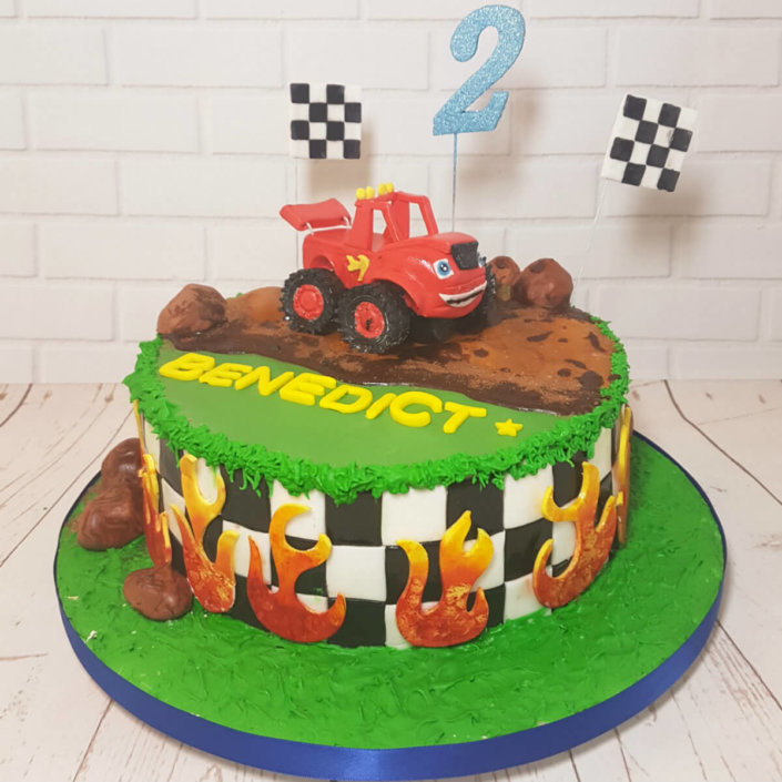 Cars theme cake with Mater topper - tamworth sutton coldfield