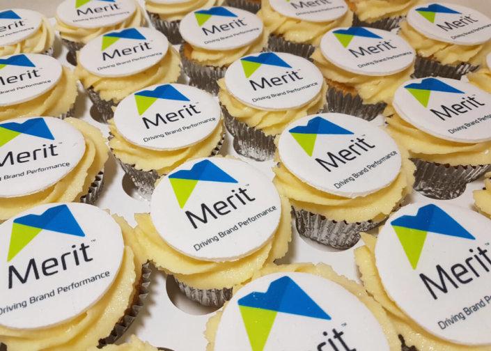 Corporate cupcakes merit display - tamworth