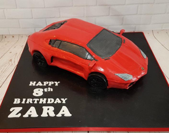 Ferrari sculted novelty cake - tamworth sutton coldfield