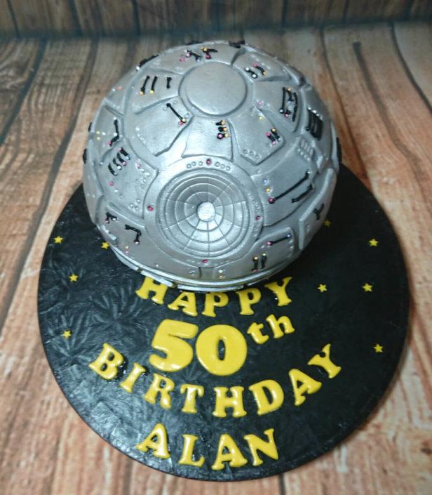 Star wars death star sculpted novelty cake - tamworth